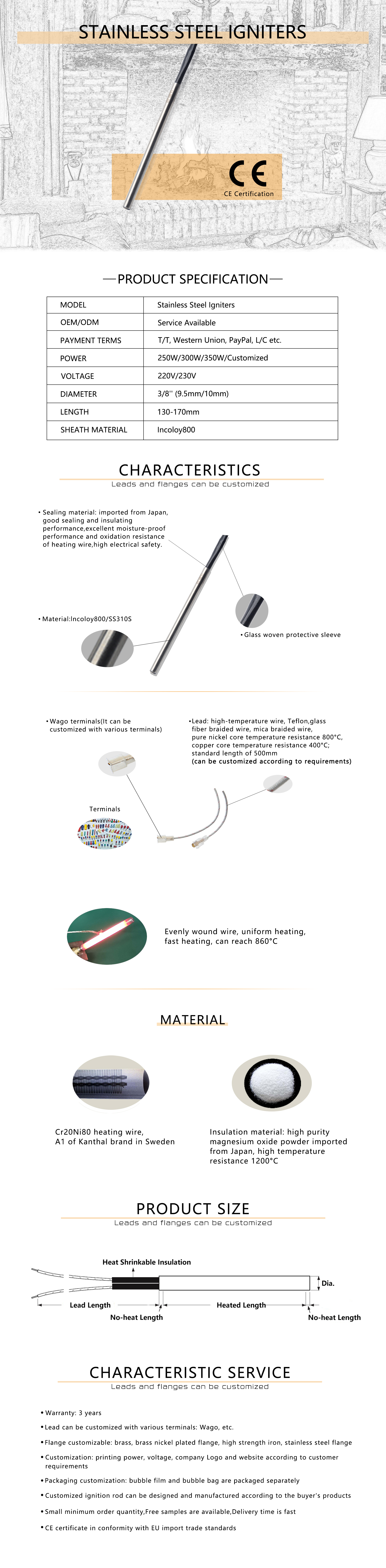 Stainless steel igniter (2)