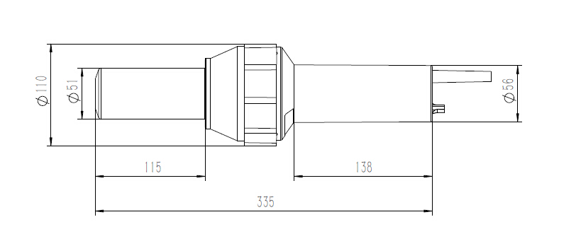 Drawing of heater ZX3400